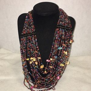 Jewelry - Boho shell and bead necklace .